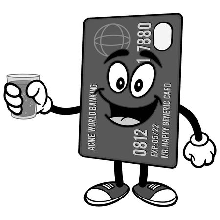 Credit Card with Water Illustration