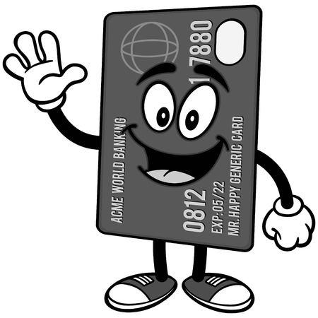 Credit Card Waving Illustration 向量圖像