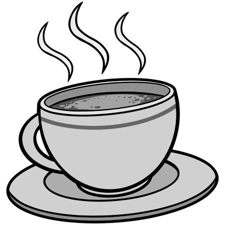 Coffee Illustration Çizim
