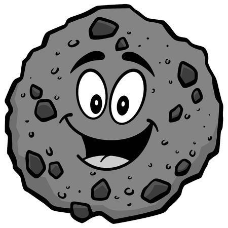 초콜릿 칩 쿠키 마스코트 일러스트 레이션