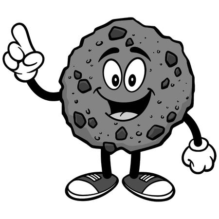 Chocolate Chip Cookie Talking Illustration Illustration