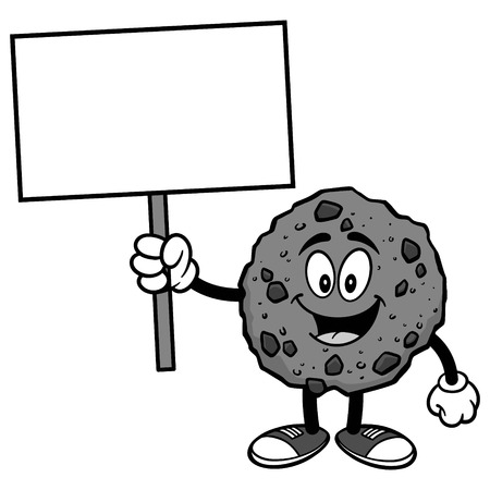 Chocolate Chip Cookie with Sign Illustration
