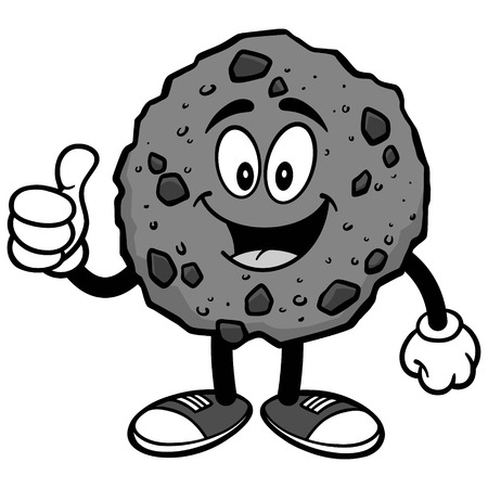 Chocolate Chip Cookie with Thumbs Up Illustration