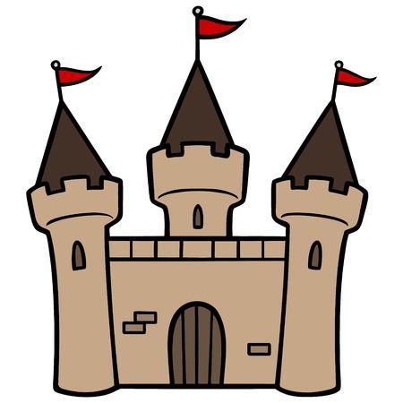 Castle - A vector illustration of a medieval King's Castle.