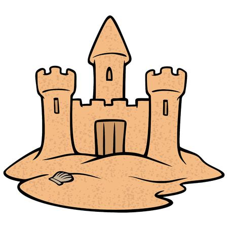 Sandcastle - A vector illustration of a medieval Kings Castle. Illustration