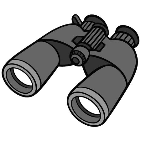 Binoculars Illustration. Vettoriali