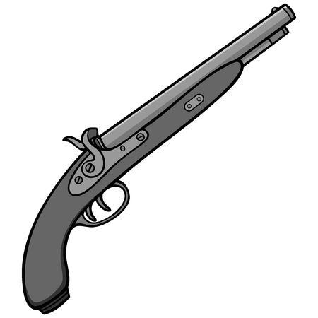 Black Powder Gun Illustratie.