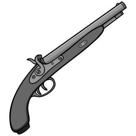 Black Powder Gun Illustration.