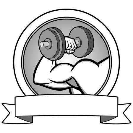 Bodybuilding Contest Banner Illustration - A vector illustration of a cartoon Bodybuilding Contest Banner.
