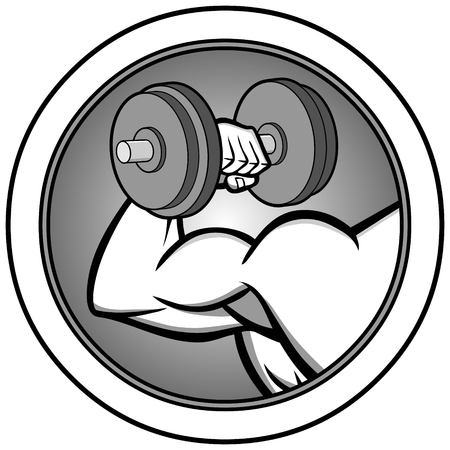 Bodybuilding Icon Illustration - A vector illustration of a cartoon Bodybuilding Icon Illustration.
