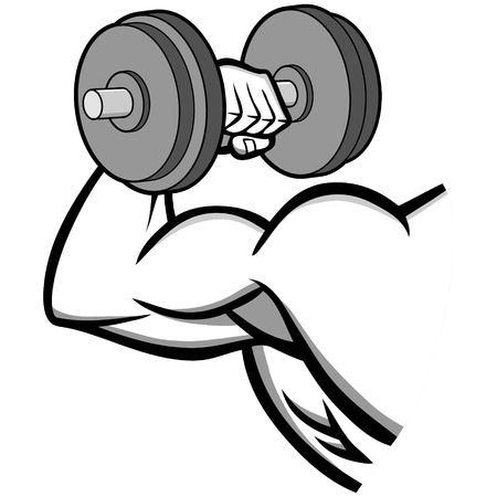 Bodybuilding Illustration - Eine Vektor-Illustration einer Cartoon-Bodybuilding-Illustration.