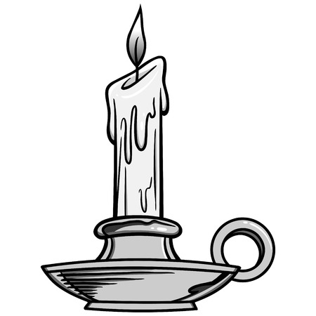 Candlestick Holder Illustration - A vector cartoon illustration of a Candlestick Holder.