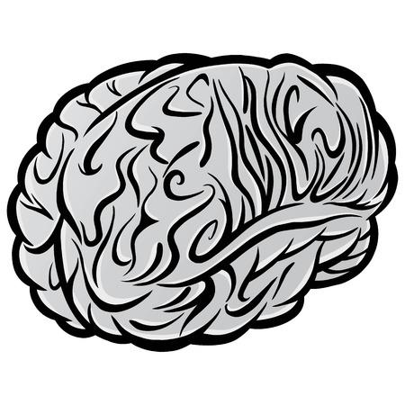 두뇌 기호 그림 -는 두뇌 기호 벡터 만화 일러스트 레이 션.