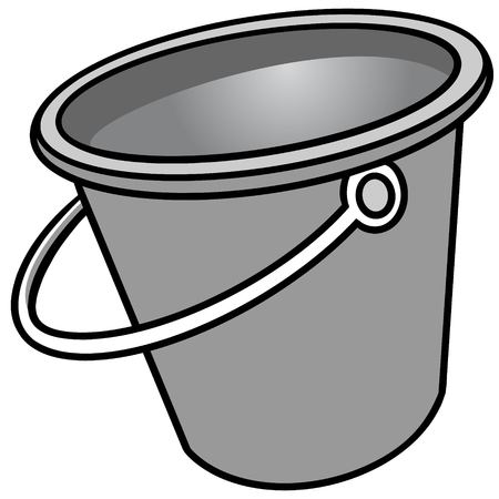 Bucket of Water Illustration - A vector cartoon illustration of a Bucket of Water.