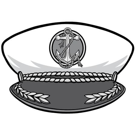 Illustration of a Navy Captain Cap