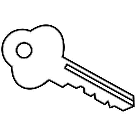 Car key illustration, a vector cartoon illustration of a car key.