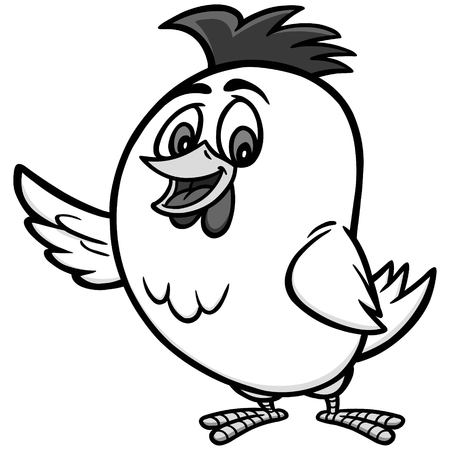 チキン漫画イラスト - チキンマスコットのベクトル漫画イラスト。