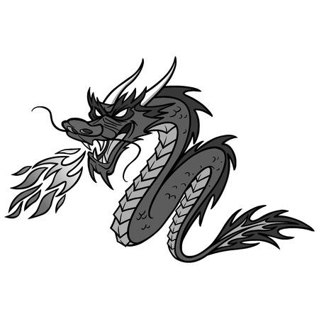 Chinese Dragon Illustration - A vector cartoon illustration of a Chinese Dragon.