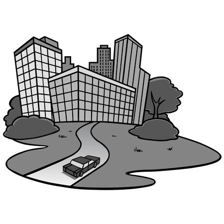 City Icon Illustration - A vector cartoon illustration of a City Icon concept. Illusztráció