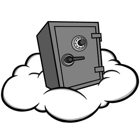 Illustrazione di stoccaggio della nuvola, illustrazione del fumetto di vettore di un concetto di stoccaggio della nuvola. Archivio Fotografico - 94144631