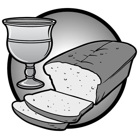 Communion Icon Illustration - A vector cartoon illustration of a Communion Icon. Ilustração
