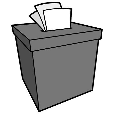 Complaint Box Illustration - A vector cartoon illustration of a Complaint Box.