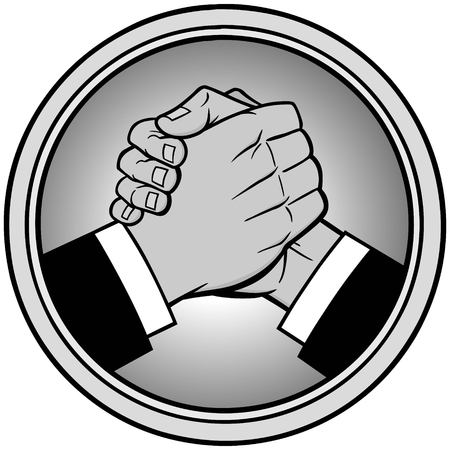 Cool Handshake Icon Illustration - A vector cartoon illustration of a Cool Handshake Icon. Illustration