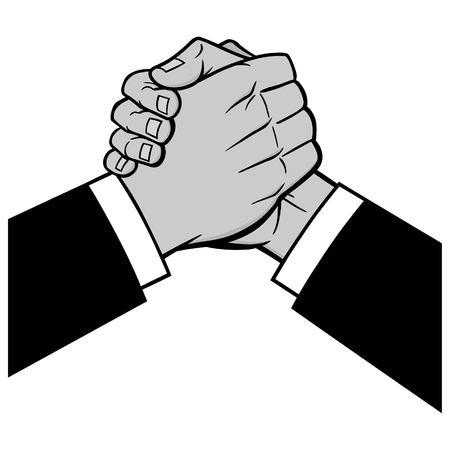 Cool Handshake Illustration - A vector cartoon illustration of a Cool Handshake.