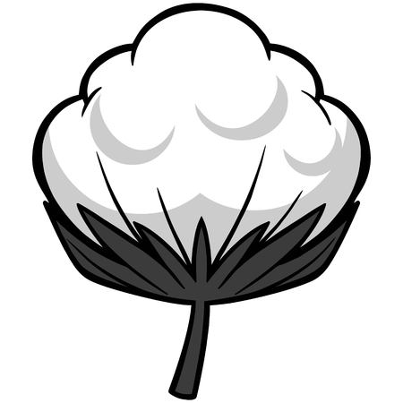 Cotton Blossom Illustration - A vector cartoon illustration of a Cotton Blossom. Ilustrace