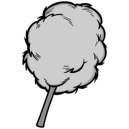 Cotton candy illustration. A vector cartoon illustration of some cotton candy.