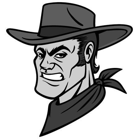 Cowboy man illustration Иллюстрация