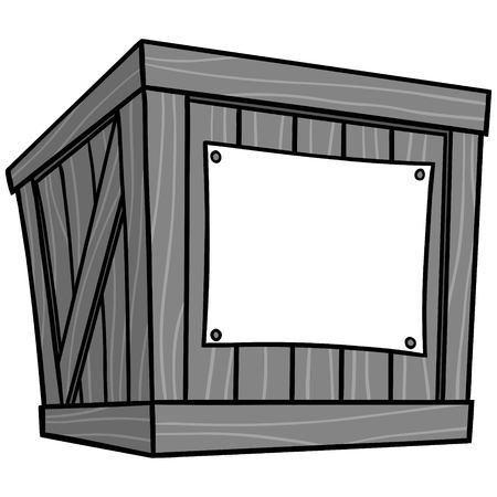 Illustration de dessin animé de caisse - Une illustration de dessin animé de vecteur d'une caisse d'entrepôt.