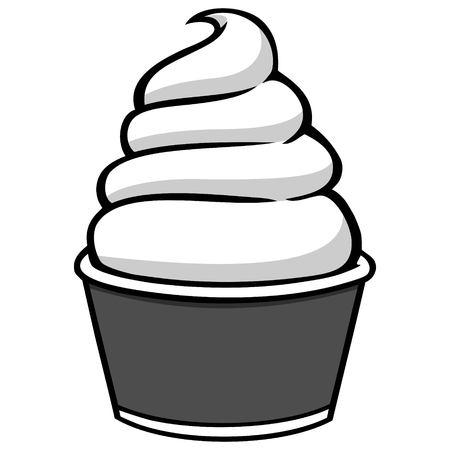 Cup of Ice Cream Illustration - A vector cartoon illustration of a Cup of Ice Cream. Banque d'images - 94693210
