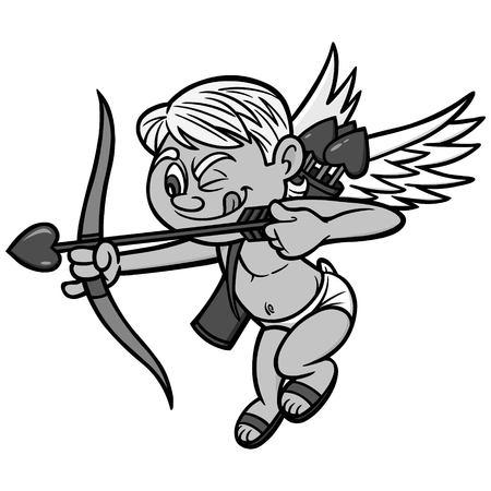 Cupid Illustration - A vector cartoon illustration of a Valentine's Day Cupid Mascot.