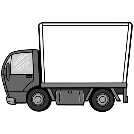 Delivery Truck Illustration - A vector cartoon illustration of a Delivery Truck.