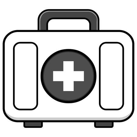 First Aid Kit Illustration - A vector cartoon illustration of a First Aid Kit.