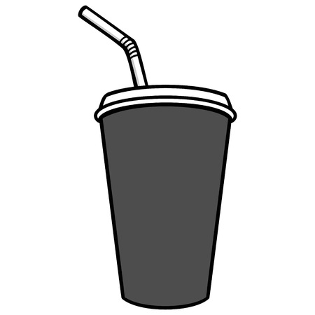 Fountain Drink Illustration - A vector cartoon illustration of a restaurant Fountain Drink.