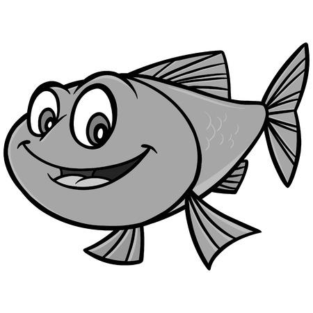 Goldfish Cartoon Illustration - A vector cartoon illustration of a Goldfish mascot. 向量圖像