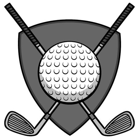 Golf Insignia Illustration - A vector cartoon illustration of a Golf Insignia.
