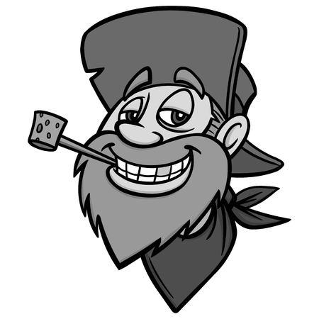 Got Gold Illustration - A vector cartoon illustration of a Gold Miner mascot. Illustration