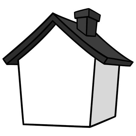 House Icon Illustration - A vector cartoon illustration of a simple House Icon.