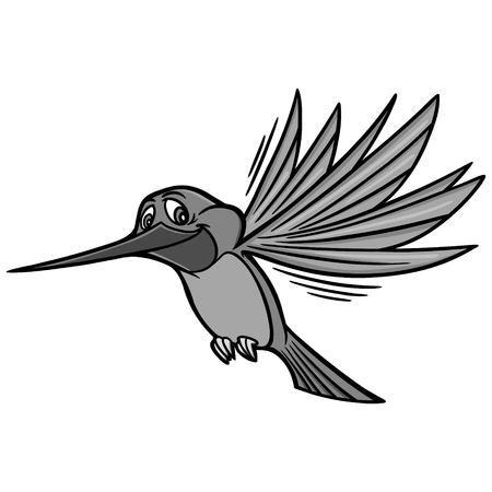 Hummingbird Illustration - A vector cartoon illustration of a Hummingbird mascot.