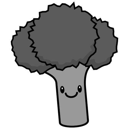 Broccoli Illustration, a vector cartoon illustration of a cute Broccoli.