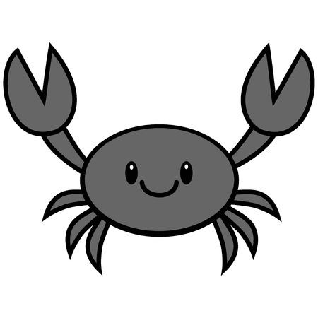 A vector cartoon illustration of a cute Crab.