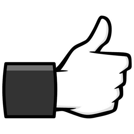 Like Us Social Media Icon Illustration - A vector cartoon illustration of a Like Us Social Media Icon.  イラスト・ベクター素材