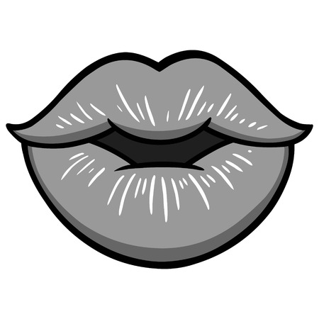 Lips Illustration - A vector cartoon illustration of some sexy of Lips.