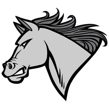 Mustang Mascot Illustration - A vector cartoon illustration of a Mustang Mascot.
