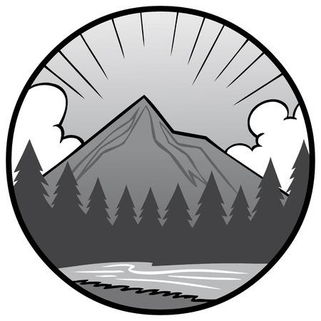 Nature icône illustration - une illustration de dessin animé d & # 39 ; une icône de vecteur de nature . concept de la nature Banque d'images - 96428443