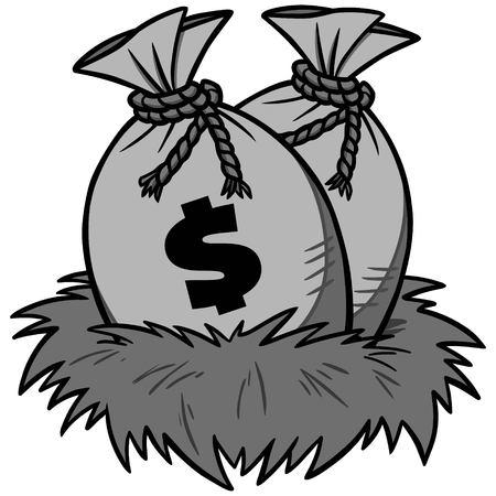 Nest Egg Savings Illustration