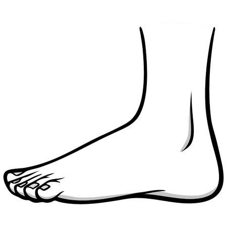 Outside Foot Illustration Ilustrace